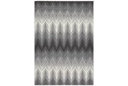 5'x8' Rug-Charcoal Ombre Flamestitch