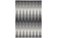 8'x11' Rug-Charcoal Ombre Flamestitch