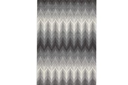 120X158 Rug-Charcoal Ombre Flamestitch