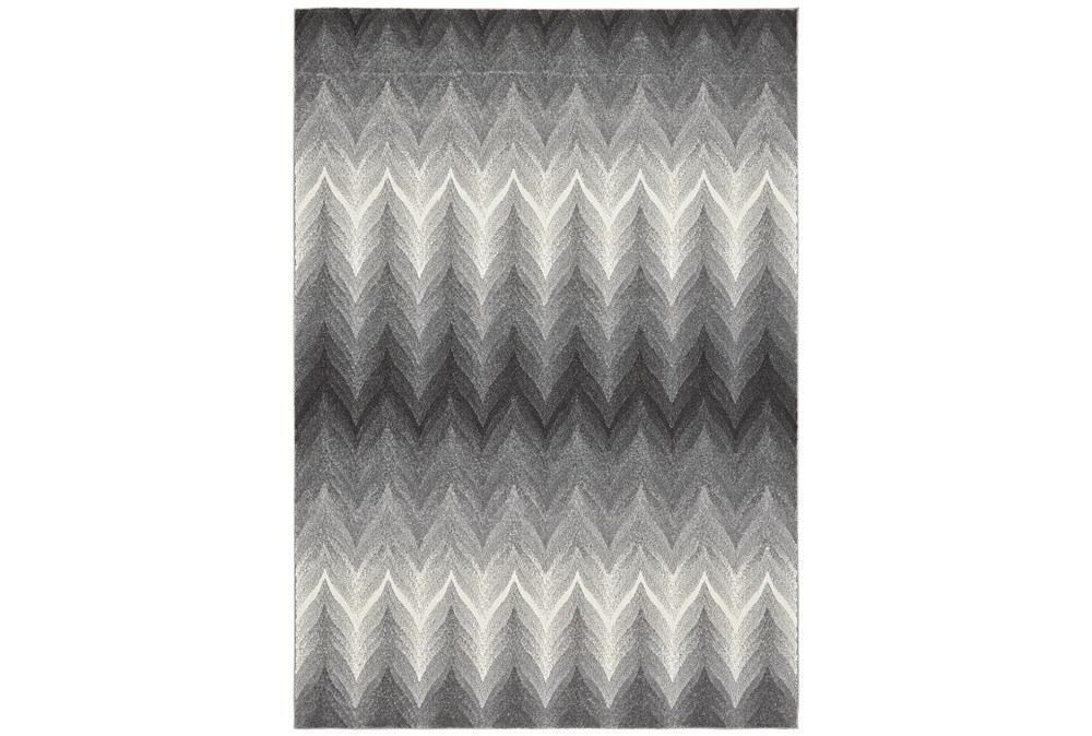 "10'x13'1"" Rug-Charcoal Ombre Flamestitch"