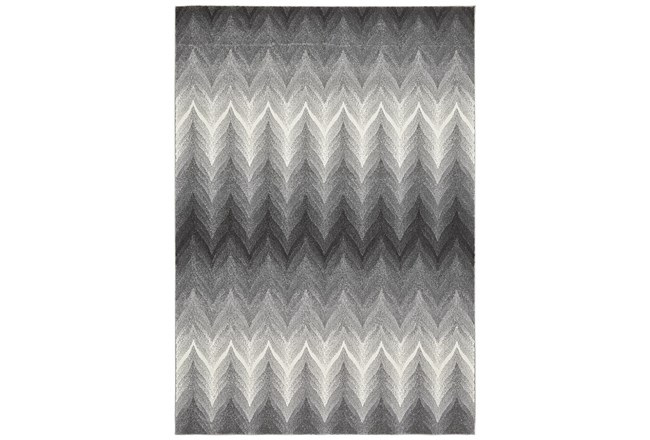 "10'x13'1"" Rug-Charcoal Ombre Flamestitch - 360"