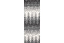 34X94 Rug-Charcoal Ombre Flamestitch