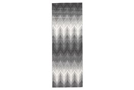 """2'8""""x7'8"""" Rug-Charcoal Ombre Flamestitch"""