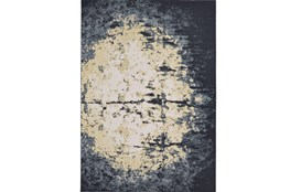 5'x8' Rug-Grey And Ivory Burnout