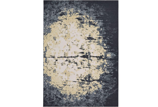 96X132 Rug-Grey And Ivory Burnout - 360