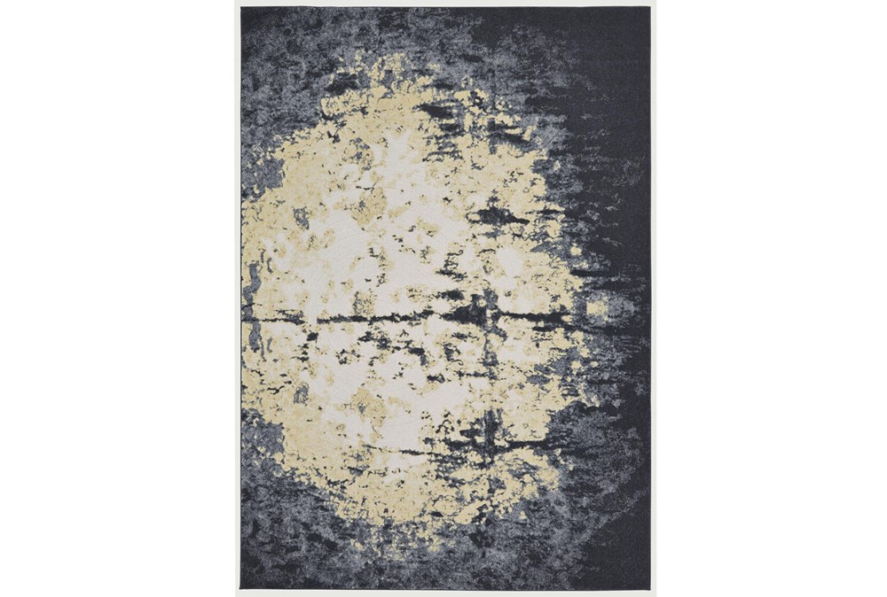 8'x11' Rug-Grey And Ivory Burnout