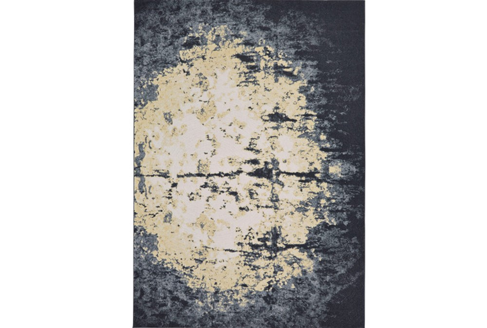120X158 Rug-Grey And Ivory Burnout