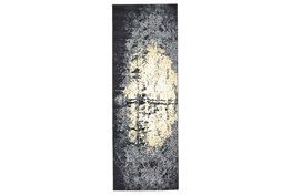 """2'8""""x7'8"""" Rug-Grey And Ivory Burnout"""