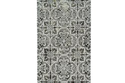 5'x8' Rug-Black Tie-Dye Medallion