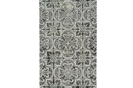 60X96 Rug-Black Tie-Dye Medallion - Main