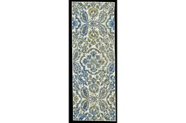 "2'8""x11'8"" Rug-Cobalt And Yellow Large Medallion"