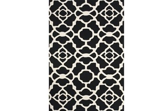2'x3' Rug-Black And White Garden Gate