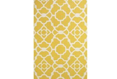 42X66 Rug-Yellow And White Garden Gate