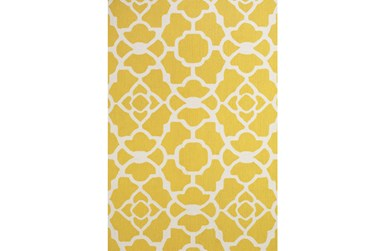 "3'5""x5'5"" Rug-Yellow And White Garden Gate"