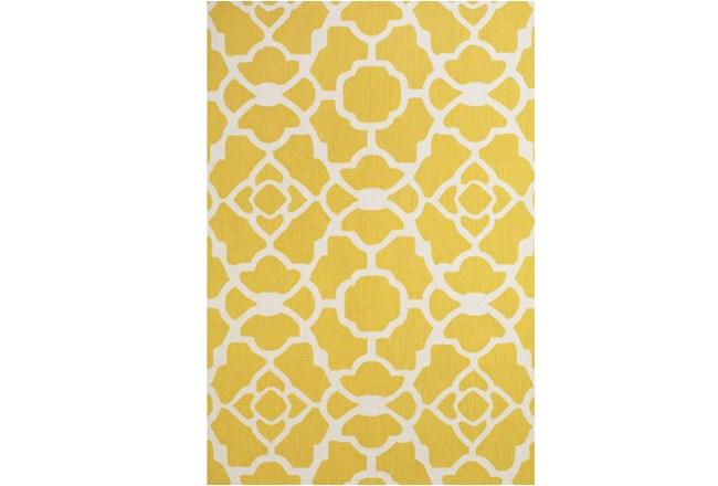"3'5""x5'5"" Rug-Yellow And White Garden Gate - 360"