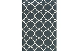"3'5""x5'5"" Rug-Charcoal And White Trellis"