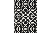 60X96 Rug-Black And White Garden Gate - Signature