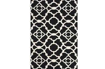 60X96 Rug-Black And White Garden Gate