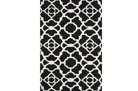 90X114 Rug-Black And White Garden Gate - Main