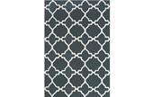 90X114 Rug-Charcoal And White Trellis - Signature