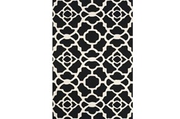 102X138 Rug-Black And White Garden Gate