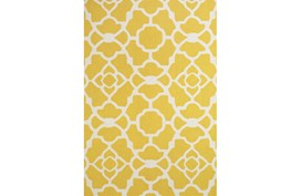 102X138 Rug-Yellow And White Garden Gate