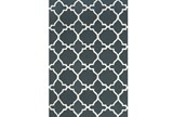102X138 Rug-Charcoal And White Trellis - Signature