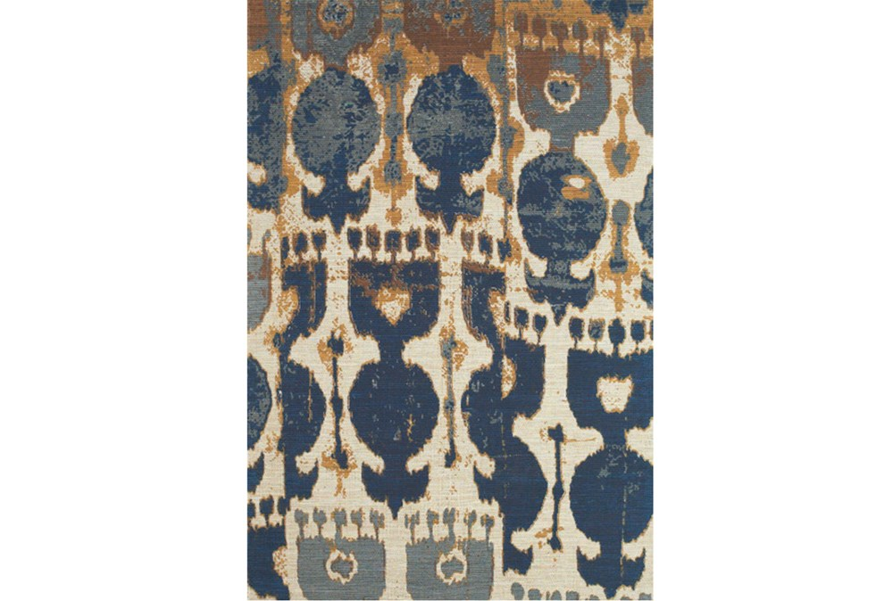 4'x6' Rug-Yves Navy And Copper