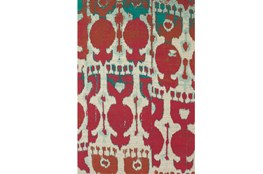4'x6' Rug-Yves Red And Teal