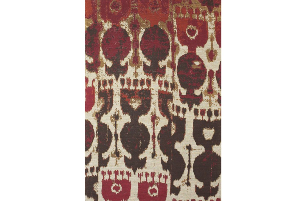 5'x8' Rug-Yves Red And Brown