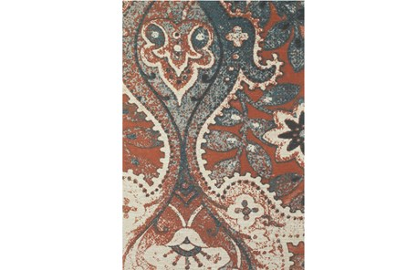 96X132 Rug-Yves Orange And Blue - Main