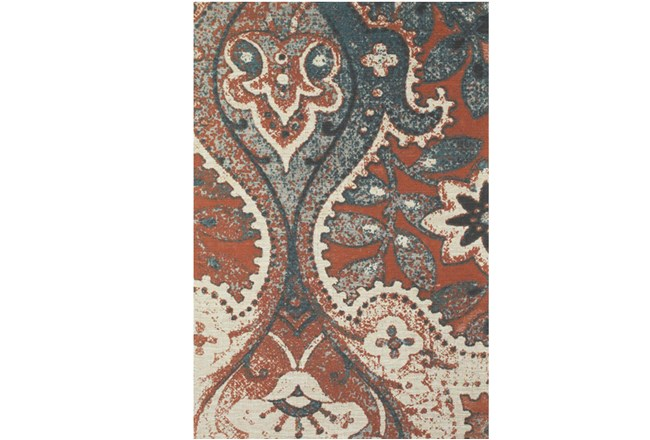 96X132 Rug-Yves Orange And Blue - 360