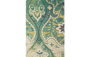 96X132 Rug-Yves Teal And Green