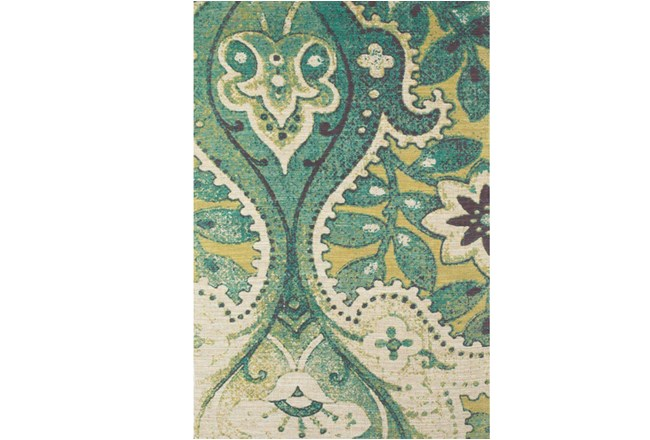 96X132 Rug-Yves Teal And Green - 360
