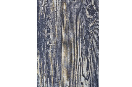 26X48 Rug-Charcoal And Yellow Faux Bois