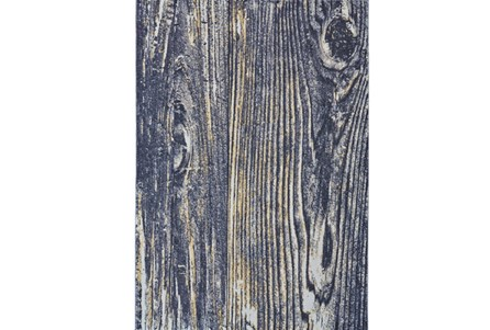 96X132 Rug-Charcoal And Yellow Faux Bois