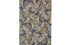 """2'2""""x4' Rug-Charcoal And Yellow Crackle"""