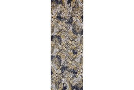 34X94 Rug-Charcoal And Yellow Crackle