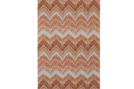 96X132 Rug-Orange Ombre Chevron - Main