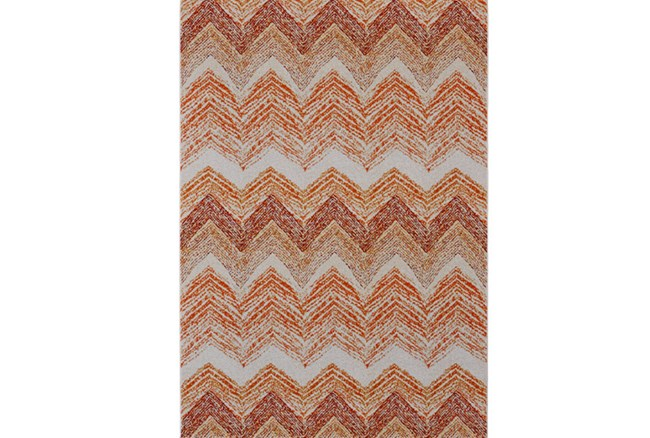 96X132 Rug-Orange Ombre Chevron - 360