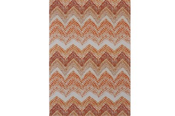 120X158 Rug-Orange Ombre Chevron