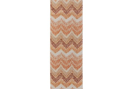 34X94 Rug-Orange Ombre Chevron