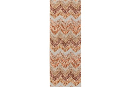 34X94 Rug-Orange Ombre Chevron - Main