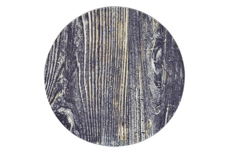 96 Inch Round Rug-Charcoal And Yellow Faux Bois - Main