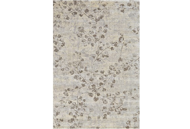 60X90 Rug-Grey And Buttercream Faded Vines - 360