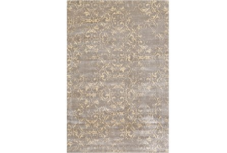 38X64 Rug-Taupe And Buttercream Faded Tapestry