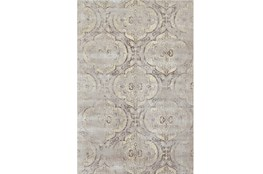 38X64 Rug-Grey And Buttercream Faded Medallions