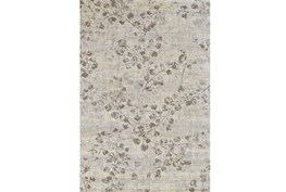 88X123 Rug-Grey And Buttercream Faded Vines