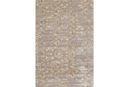 88X123 Rug-Taupe And Buttercream Faded Tapestry