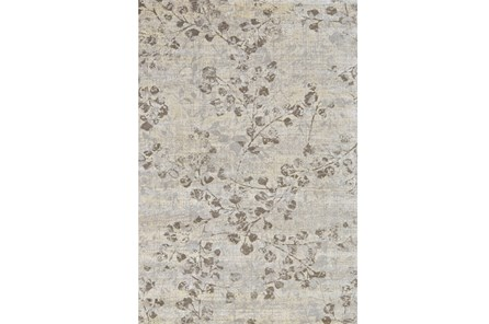 110X146 Rug-Grey And Buttercream Faded Vines - Main